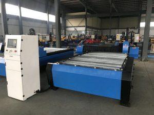 China 1325 1530 billige Brennerhöhenregler Plasma huayuan Metall Stahl schneiden cnc Plasma-Schneidemaschine