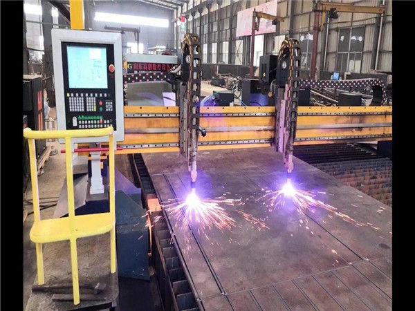 Doppelantrieb Portal CNC Plasmaschneidanlage H Strahlfertigungslinie Hypertherm CNC-System