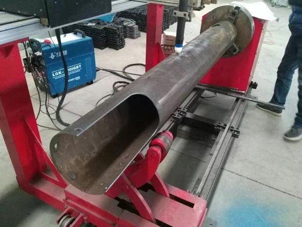 Rotierende Welle CNC-Kreisrohr Kostengünstige CNC-Plasmaschneidmaschine